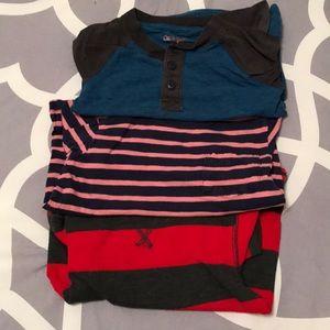 Bundle / Lot of 3 long sleeved boys t-shirts